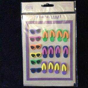 Other - Summer Fun 3D foam stickers